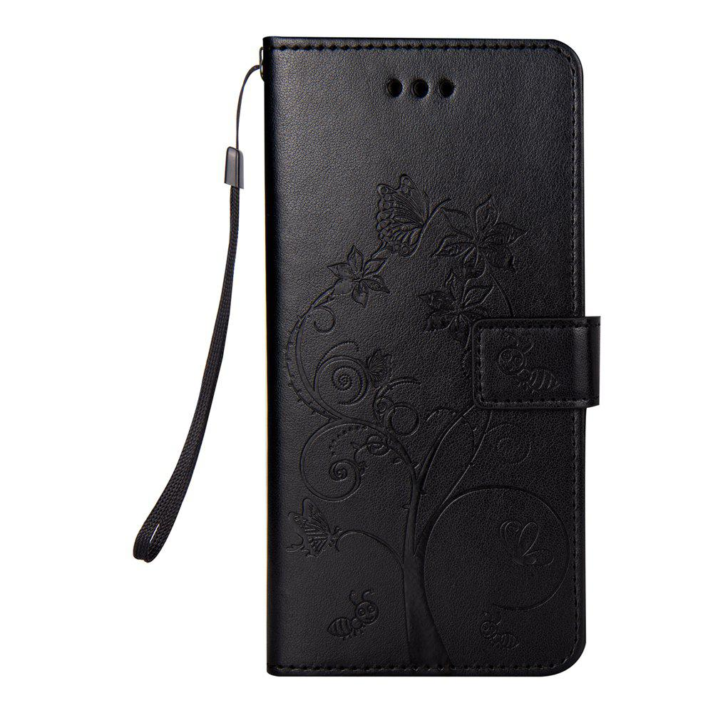 Ants On The Tree PU Leather Dirt Resistant Phone Case for Samsung Galaxy S8 - BLACK