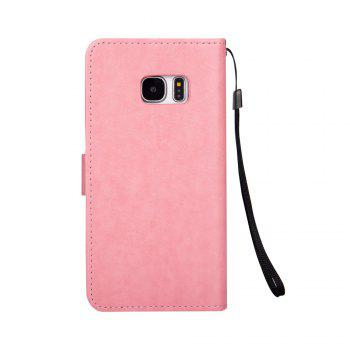 Ants On The Tree PU Leather Dirt Resistant Phone Case for Samsung Galaxy S7 - PINK