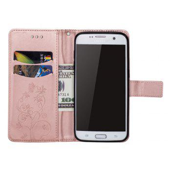 Ants On The Tree PU Leather Dirt Resistant Phone Case for Samsung Galaxy S7 - ROSE GOLD