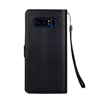 Slender Hand PU Leather Dirt Resistant Phone Case for Samsung Galaxy Note 8 - BLACK