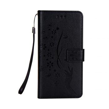 Slender Hand PU Leather Dirt Resistant Phone Case for Samsung Galaxy Note 8 - BLACK BLACK