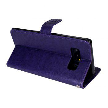 Slender Hand PU Leather Dirt Resistant Phone Case for Samsung Galaxy Note 8 -  PURPLE