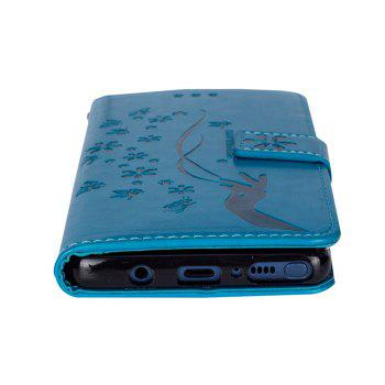 Slender Hand PU Leather Dirt Resistant Phone Case for Samsung Galaxy Note 8 -  BLUE