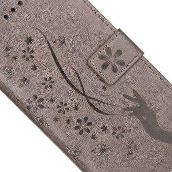 Slender Hand PU Leather Dirt Resistant Phone Case for Samsung Galaxy Note 8 -  GRAY