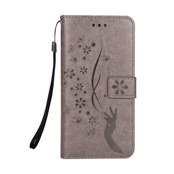 Slender Hand PU Leather Dirt Resistant Phone Case for Samsung Galaxy Note 8 - GRAY GRAY
