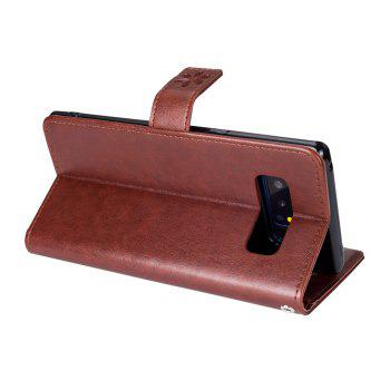Slender Hand PU Leather Dirt Resistant Phone Case for Samsung Galaxy Note 8 -  BROWN