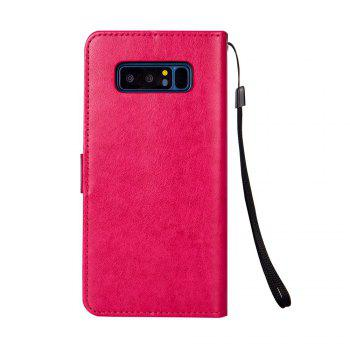 Slender Hand PU Leather Dirt Resistant Phone Case for Samsung Galaxy Note 8 - ROSE RED