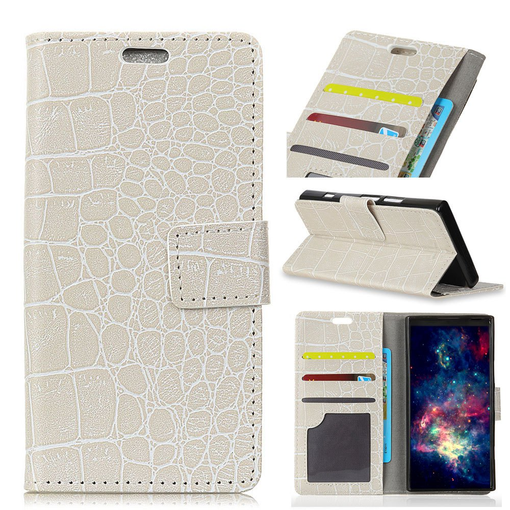 Vintage Crocodile Pattern PU Leather Wallet Case for Xiaomi Redmi Note 4X - WHITE