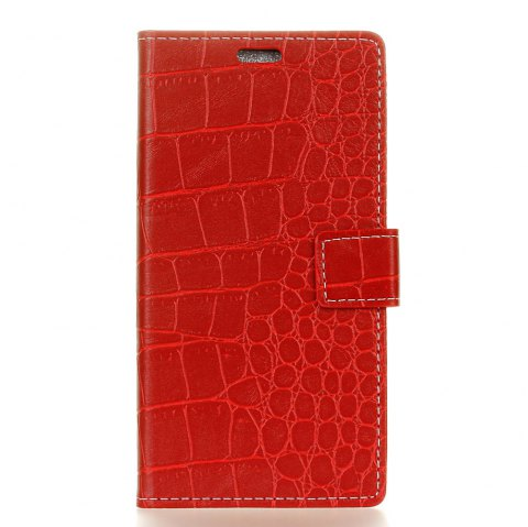 Vintage Crocodile Pattern PU Leather Wallet Case for Huawei Honor V9 Play - RED