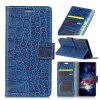 Vintage Crocodile Pattern PU Leather Wallet Case for Huawei Mate 10 - BLUE