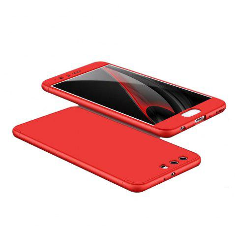 3 in 1 Hybrid Hard Plastic Ultra Thin and Slim Anti-scratch Matte Finish Cover Case for Hawei P10 - RED