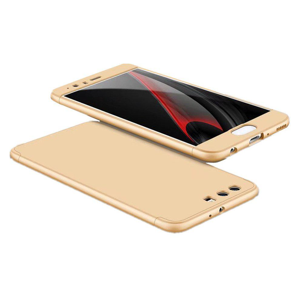 3 in 1 Hybrid Hard Plastic Ultra Thin and Slim Anti-scratch Matte Finish Cover Case for Hawei P10 - GOLDEN
