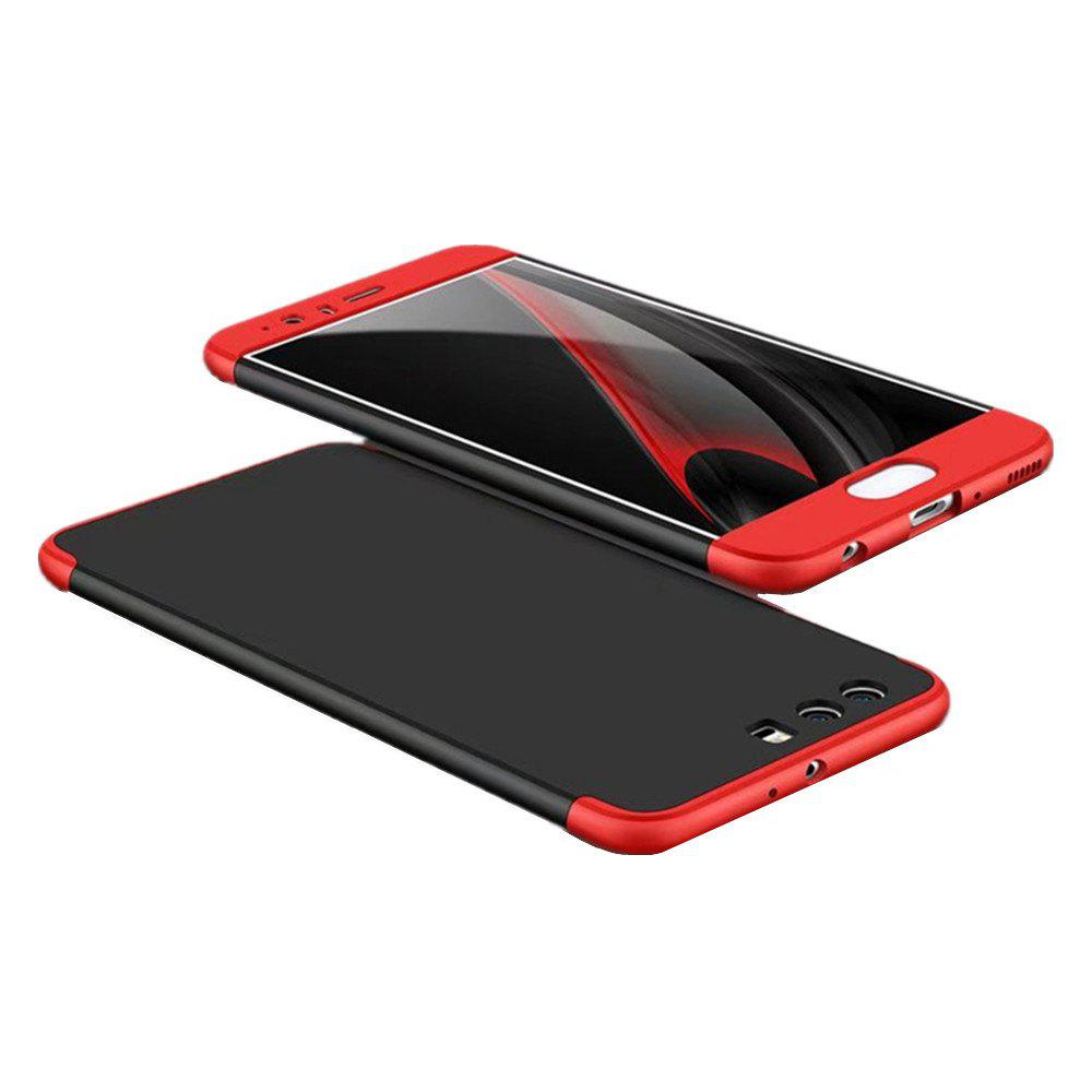 3 in 1 Hybrid Hard Plastic Ultra Thin and Slim Anti-scratch Matte Finish Cover Case for Hawei P10 - RED / BLACK