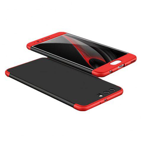 3 in 1 Hybrid Hard Plastic Ultra Thin and Slim Anti-scratch Matte Finish Cover Case for Hawei P10 Plus - RED / BLACK