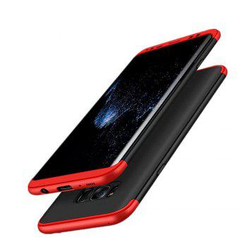 3 in 1 Hybrid Hard Plastic Ultra Thin and Slim Anti-scratch Matte Finish Cover Case for Samsung Galaxy S8 - RED / BLACK