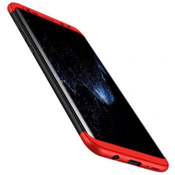 3 in 1 Hybrid Hard Plastic Ultra Thin and Slim Anti-scratch Matte Finish Cover Case for Samsung Galaxy S8 - RED + BLACK RED / BLACK