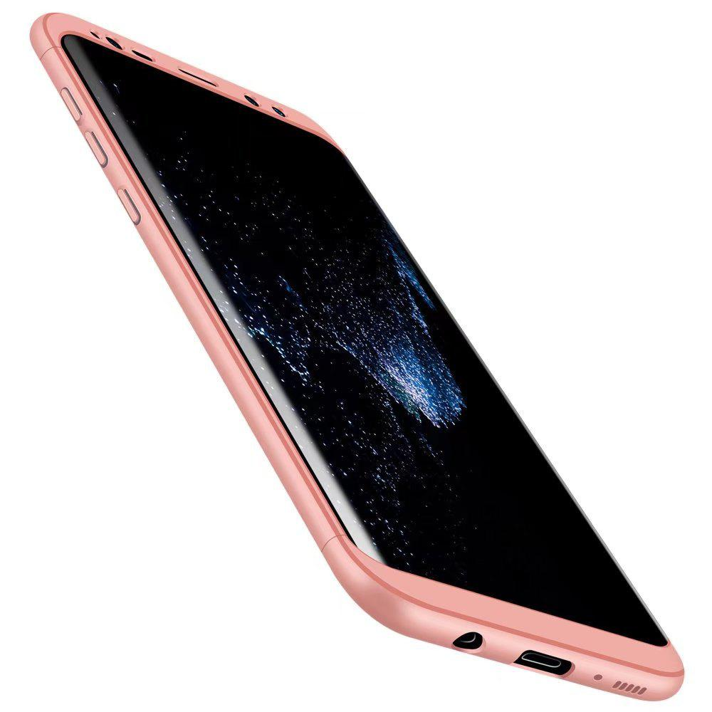 3 in 1 Hybrid Hard Plastic Ultra Thin and Slim Anti-scratch Matte Finish Cover Case for Samsung Galaxy S8 - ROSE GOLD