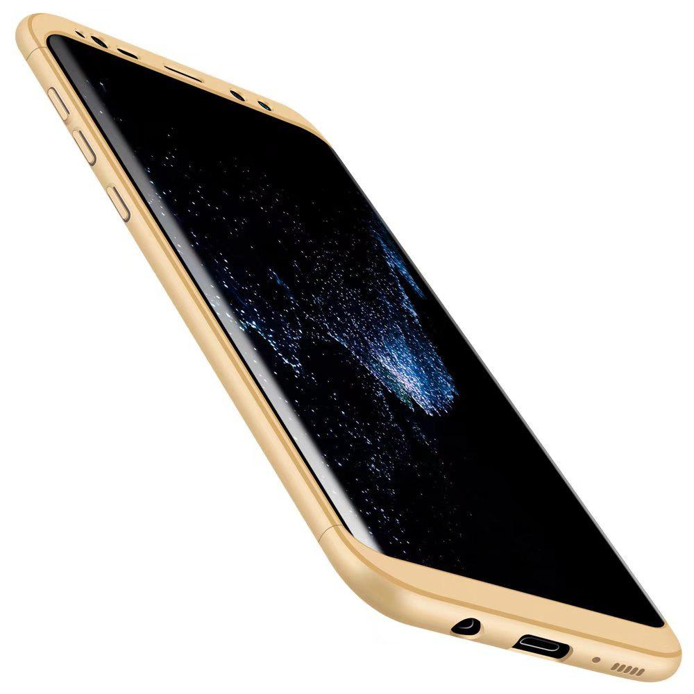 3 in 1 Hybrid Hard Plastic Ultra Thin and Slim Anti-scratch Matte Finish Cover Case for Samsung Galaxy S8 - GOLDEN