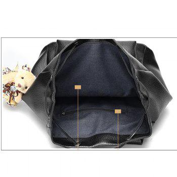 Little Bear Hangs  Double Shoulder Fashion Travel Bag -  BLACK