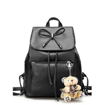Little Bear Hangs  Double Shoulder Fashion Travel Bag - BLACK BLACK