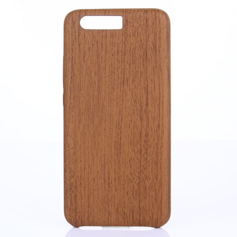 Wood Grain PU Leather Case for Huawei P10 Plus - DEEP BROWN