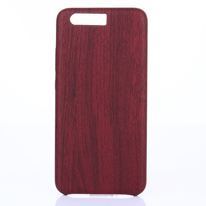 Wood Grain PU Leather Case for Huawei P10 Plus - RED