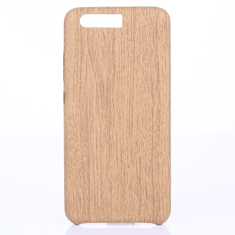 Wood Grain PU Leather Case for Huawei P10 Plus - LIGHT BROWN