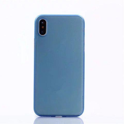 Ultra-thin Back Cover Solid Color Hard PP Case for iPhone X - LIGHT BLUE