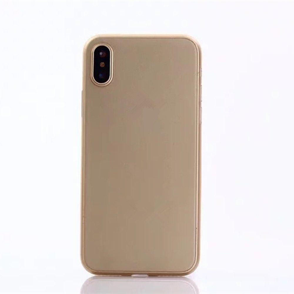 Ultra-thin Back Cover Solid Color Hard PP Case for iPhone X - GOLDEN