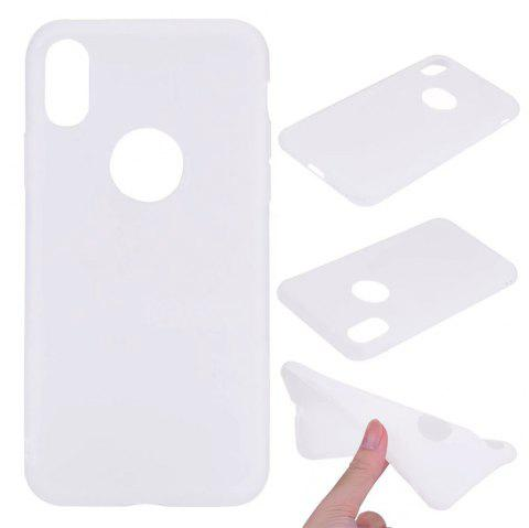 Ultra-thin Back Cover Solid Color Soft TPU Case for iPhone X - WHITE