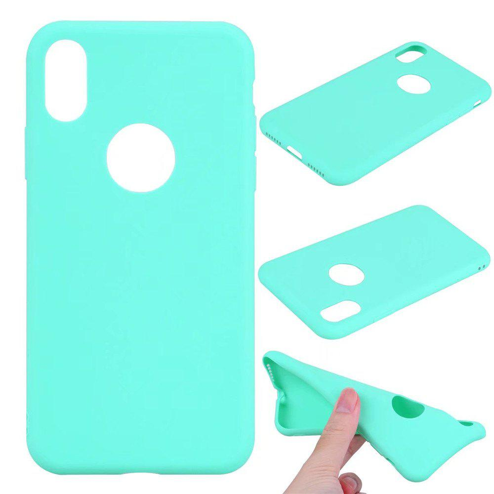 Ultra-thin Back Cover Solid Color Soft TPU Case for iPhone X - GREEN