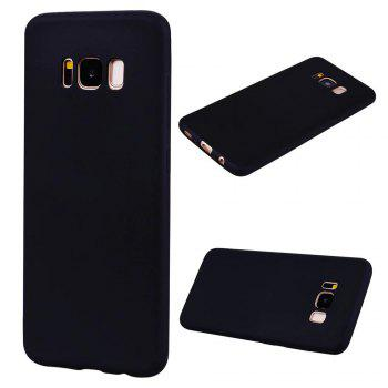 Ultra-thin Back Cover Solid Color Soft TPU Case for Samsung Galaxy S8 - BLACK BLACK