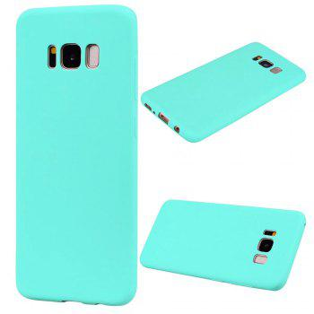 Ultra-thin Back Cover Solid Color Soft TPU Case for Samsung Galaxy S8 - GREEN GREEN