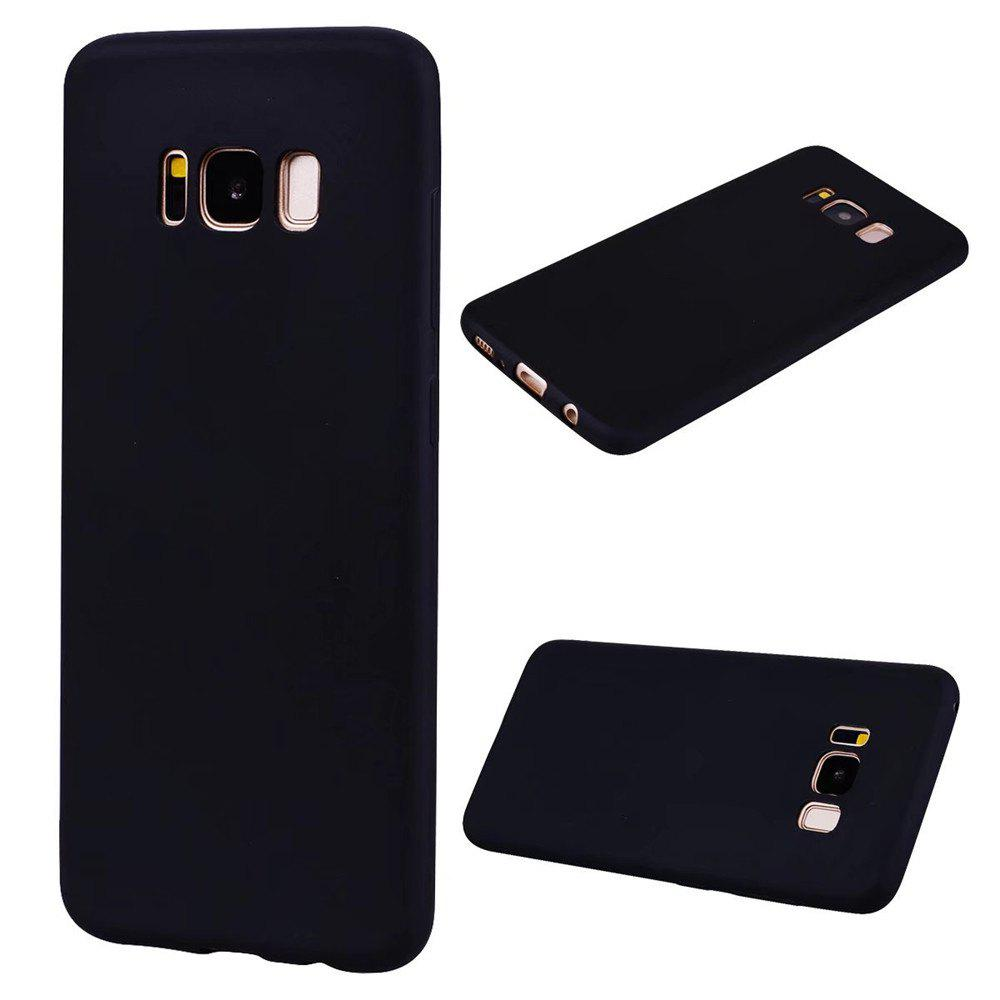Ultra-thin Back Cover Solid Color Soft TPU Case for Samsung Galaxy S8 - BLACK