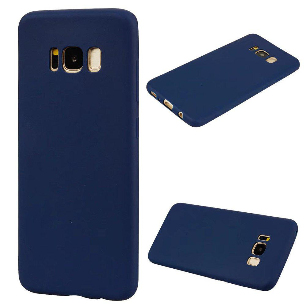 Ultra-thin Back Cover Solid Color Soft TPU Case for Samsung Galaxy S8 - CERULEAN