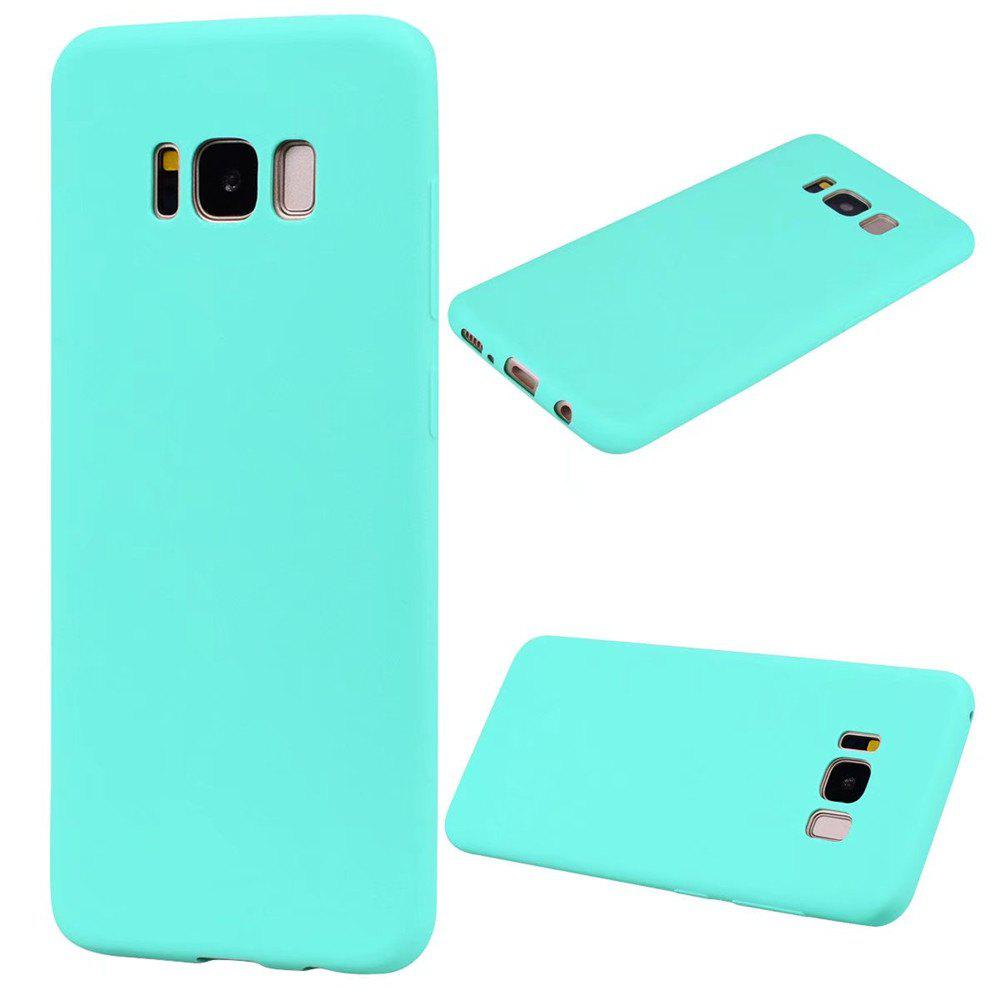 Ultra-thin Back Cover Solid Color Soft TPU Case for Samsung Galaxy S8 - GREEN