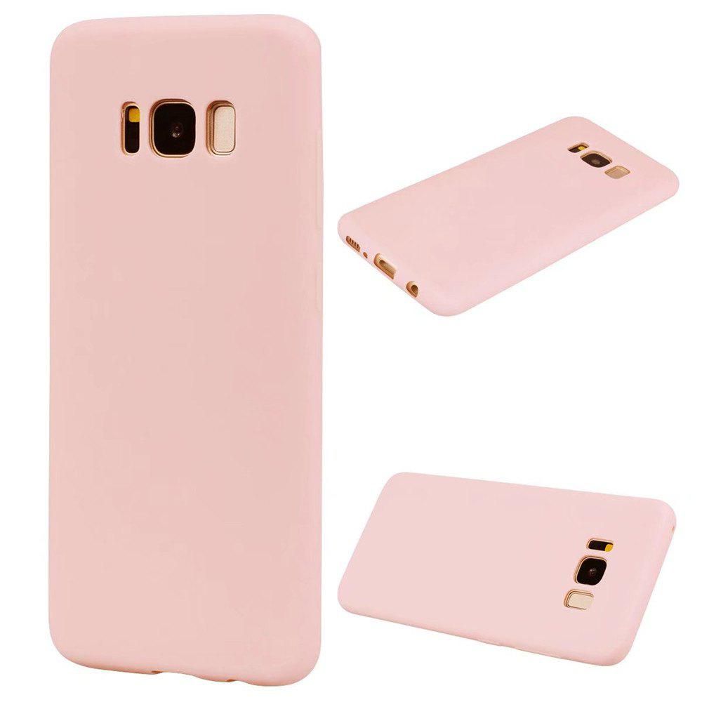 Ultra-thin Back Cover Solid Color Soft TPU Case for Samsung Galaxy S8 - PINK
