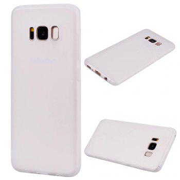 Ultra-thin Back Cover Solid Color Soft TPU Case for Samsung Galaxy S8 Plus - WHITE WHITE
