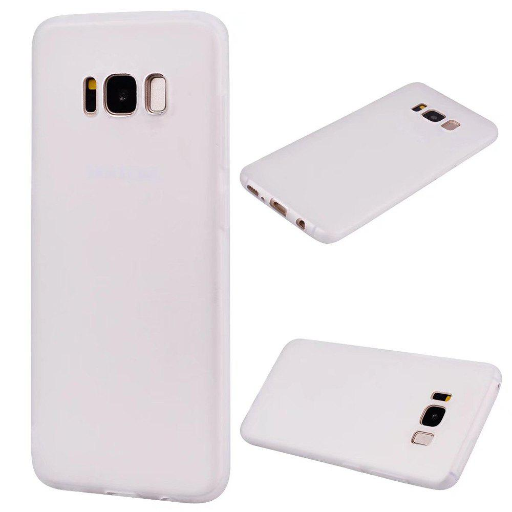 Ultra-thin Back Cover Solid Color Soft TPU Case for Samsung Galaxy S8 Plus - WHITE