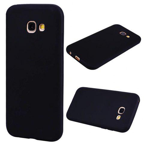 Ultra-thin Back Cover Solid Color Soft TPU Case for Samsung Galaxy A5 (2017) - BLACK