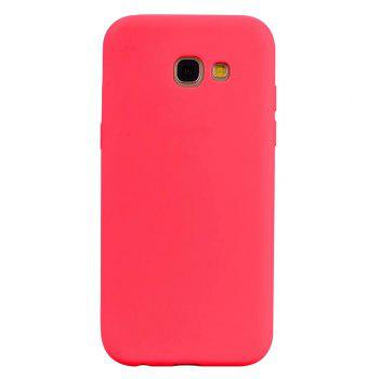 Ultra-thin Back Cover Solid Color Soft TPU Case for Samsung Galaxy A5 (2017) - RED