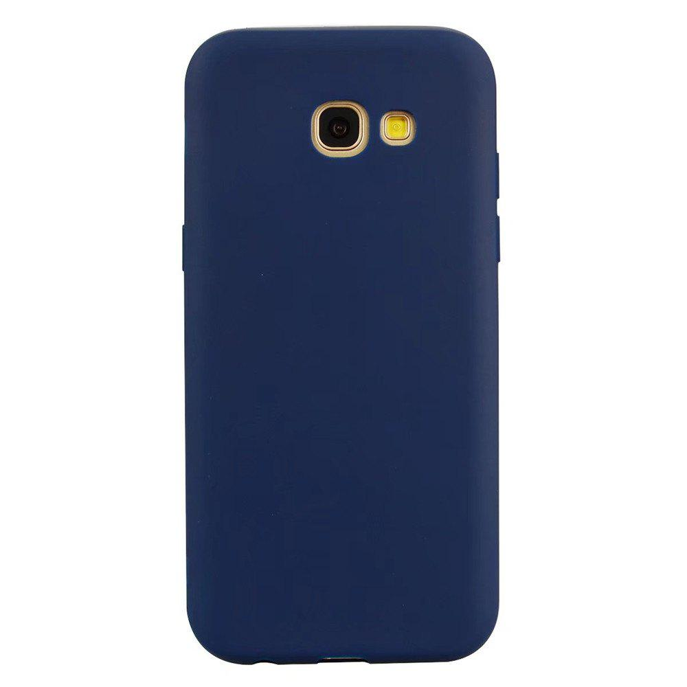 Ultra-thin Back Cover Solid Color Soft TPU Case for Samsung Galaxy A5 (2017) - CERULEAN