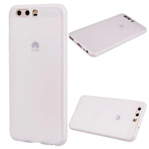 Ultra-thin Back Cover Solid Color Soft TPU Case for Huawei P10 - WHITE