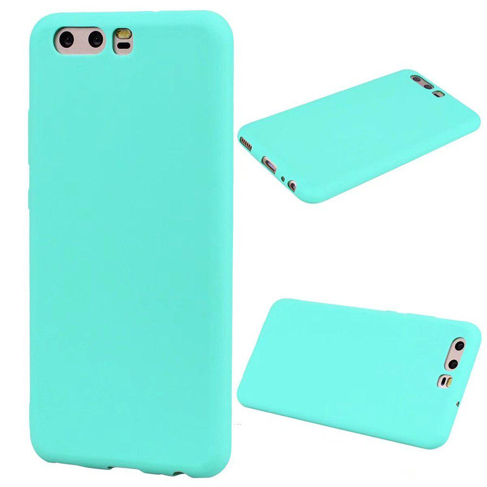 Ultra-thin Back Cover Solid Color Soft TPU Case for Huawei P10 - GREEN