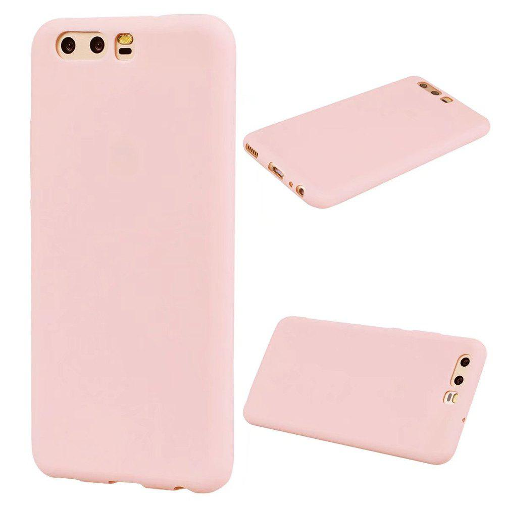 Ultra-thin Back Cover Solid Color Soft TPU Case for Huawei P10 - PINK