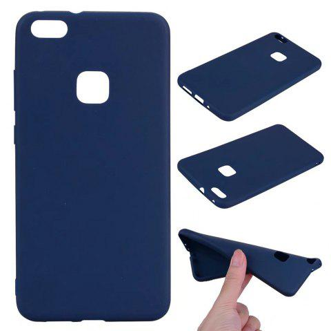 Ultra-thin Back Cover Solid Color Soft TPU Case for Huawei P10 Lite - CERULEAN
