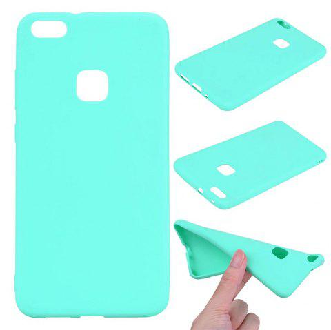 Ultra-thin Back Cover Solid Color Soft TPU Case for Huawei P10 Lite - GREEN