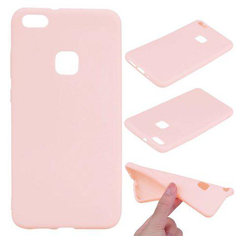 Ultra-thin Back Cover Solid Color Soft TPU Case for Huawei P10 Lite - PINK