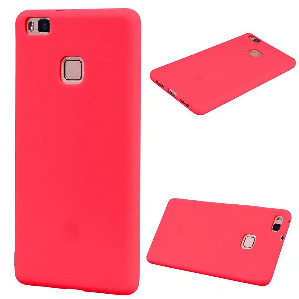 Ultra-thin Back Cover Solid Color Soft TPU Case for Huawei P9 Lite - RED