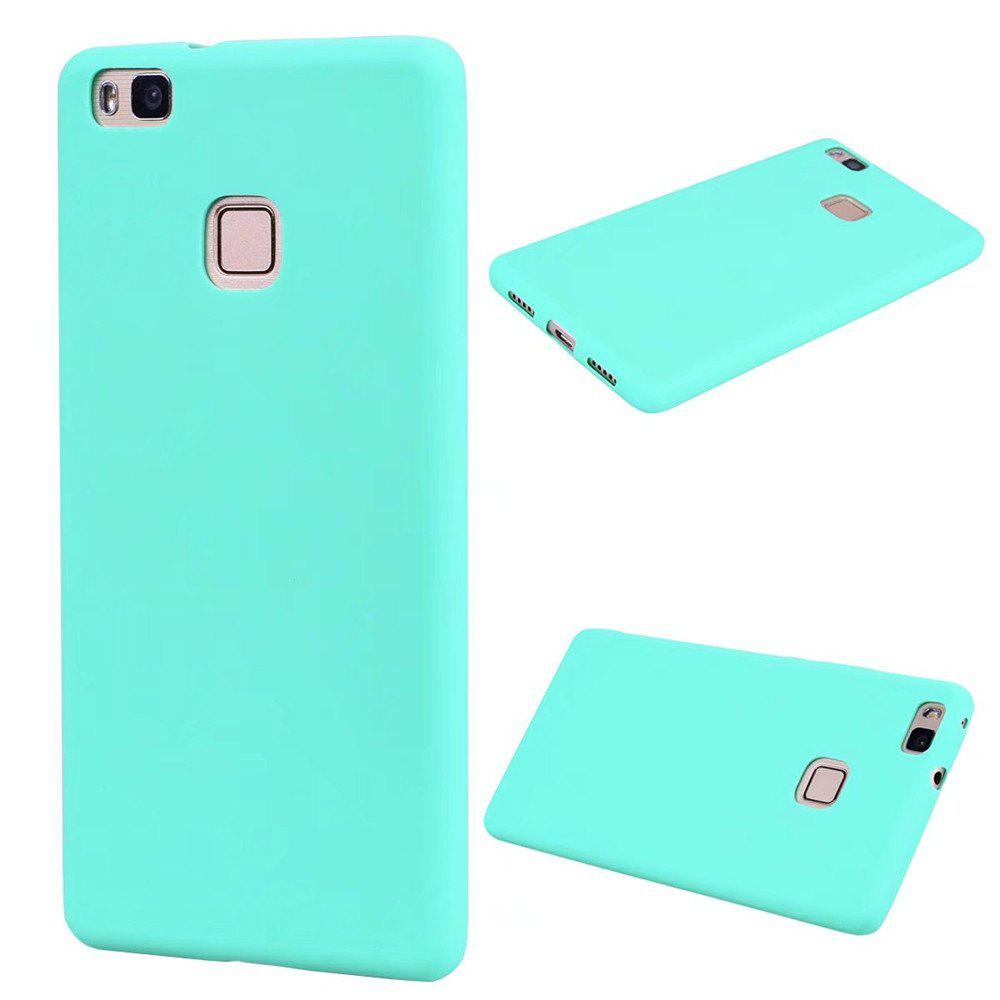 Ultra-thin Back Cover Solid Color Soft TPU Case for Huawei P9 Lite - GREEN